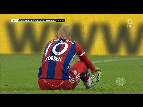 Arjen Robben vs Borussia Dortmund (H) DFB Pokal 14-15 | HD 720p (28/04/2015)