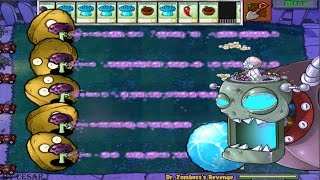 PLANTS VS ZOMBIES 100% SCAREDY SHROOM VS DR. ZOMBOSS`S