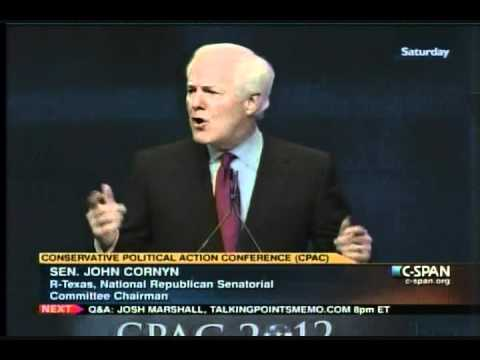 "Speech - Cornyn to CPAC: Eric Holder's ""Litany of Shame"""