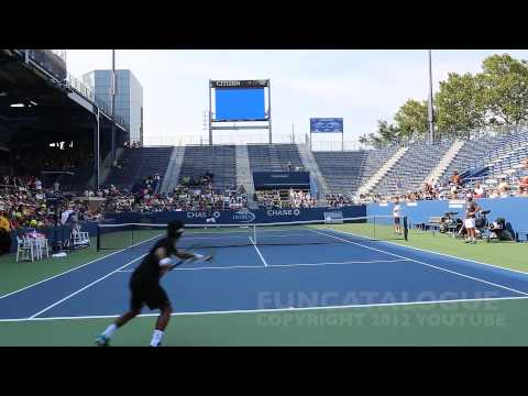 Andy Roddick / Somdev Devvarman 2013 Last Warmup Before Retirement 2012  5 / 10