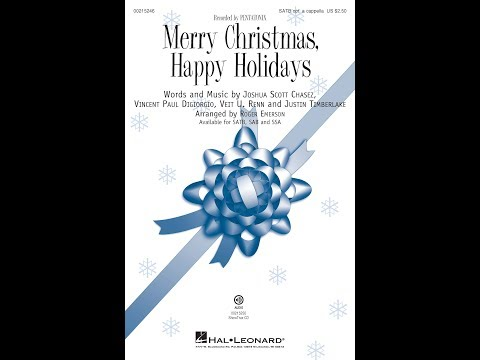 Merry Christmas, Happy Holidays (SATB) - Arranged by Roger Emerson