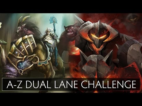 Dota 2 A-Z Dual Lane Challenge - Chen and Chaos Knight