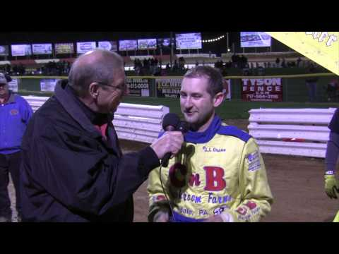 Lincoln Speedway 410 Sprint Car Victory Lane 4-25-15