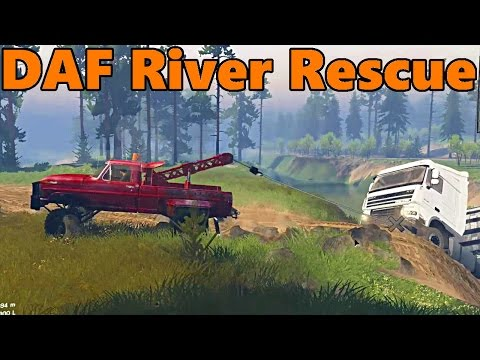 Spin Tires | NEW DAF Semi Truck and River Rescue