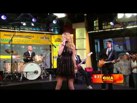 Taylor swift  Picture to burn Live  on Good morning America.wmv