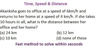 Time, Speed & Distance Aptitude Trick in Hindi for all competitive exams part 9