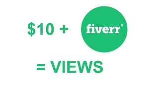 Buying 1k YouTube views on Fiverr for $10!
