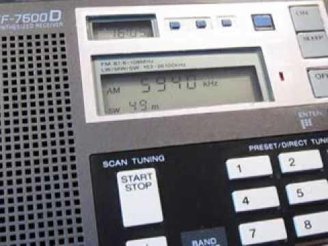 5940 Khz, Radio Australia broadcasting from Shepparton with 100 KW around the world