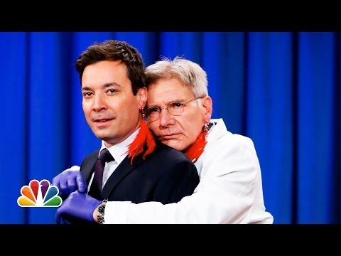 Harrison Ford Pierces Jimmy Fallon s Ear (Late Night with Jimmy Fallon)