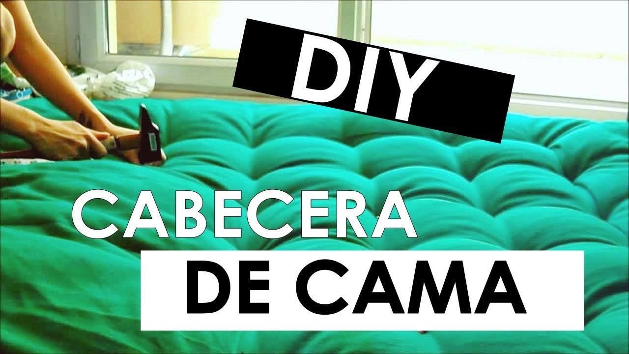 Diy hacer una cabecera de cama acolchonada youtube - Hacer una cama de madera ...