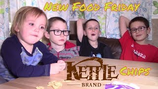 New Food Friday,  Kettle Brand chips of a variety of flavors..