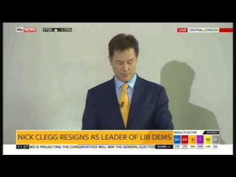 Nick Clegg resignation speech, 8th May 2015