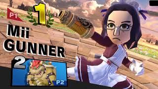Narcissa (Mii Gunner) vs Femarth (Bowser, Donkey Kong)