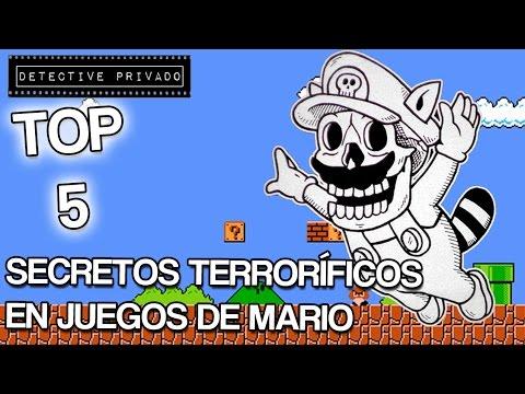 TOP 5 SECRETOS TERRORIFICOS EN JUEGOS DE MARIO / VIDEOS DE TERROR / DETECTIVE PRIVADO