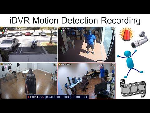 Motion Detection Video Surveillance Recording Setup for iDVR CCTV DVRs