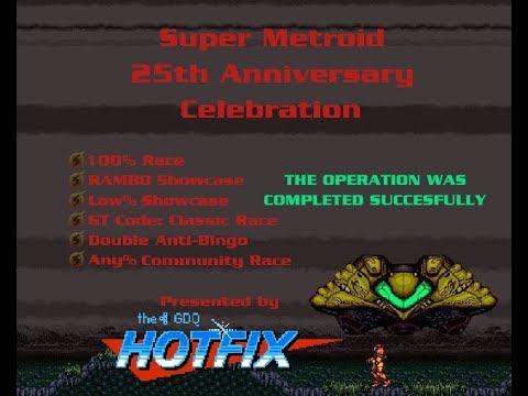 Super Metroid 25th Anniversary Celebration 100% Race