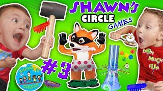 SHAWN'S CIRCLE #3: GIANT KERPLUNK GAME + Pop Goes the Weasel w/ Hexbug Toys + MORE (DOH MUCH FUN)