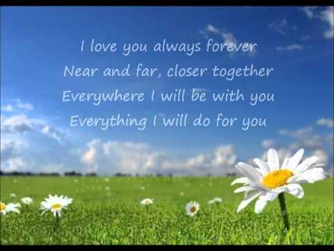 Donna Lewis - I Love You Always Forever (Lyrics)