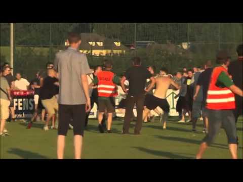 Batalla campal: se dieron duro los ultras del Leeds y del Eintracht