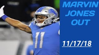 Fantasy football/NFL news 11/17/18