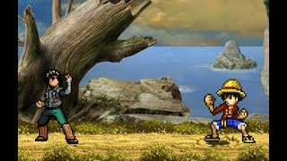 Luffy vs Rock Lee - Sprite Fight