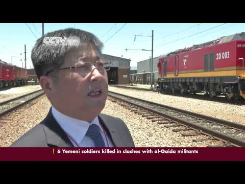 Transnet freight receives electric locomotives from Chinese rail company