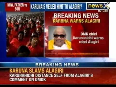M Karunanidhi distances self from Alagiri's comment on DMDK - NewsX