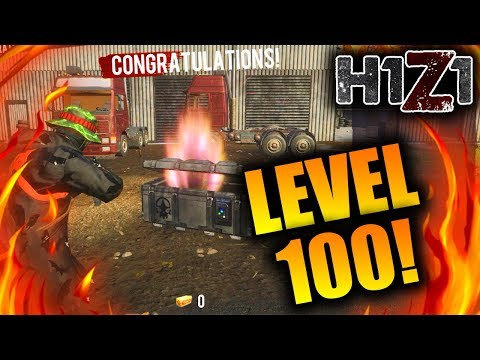 What Happens when you Hit LEVEL 100 in H1Z1! (Free Ultra Rare Skin)