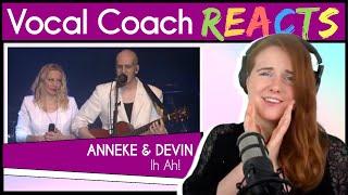 Vocal Coach reacts to Anneke Van Giersbergen & Devin Townsend - Ih Ah! (Live)