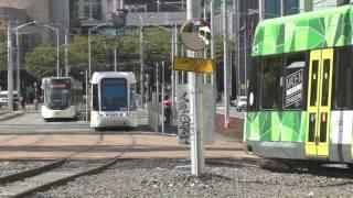 Melbourne Trams Low Floor Galore! Clarendon St Junction