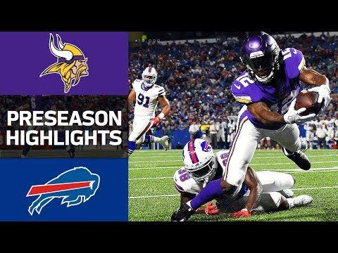 Vikings Vs Bills Nfl Preseason Week 1 Game Highlights