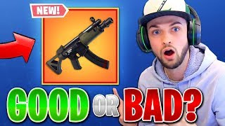 *NEW* SMG GAMEPLAY - GOOD or BAD? (Fortnite: Battle Royale UPDATE)