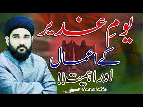 Ghadeer kay Amaal Or Ahmiyat !! | Maulana Mohammad Hussaini | 4K