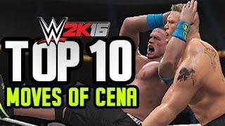 WWE 2K16 - John Cena Top 10 Moves!!