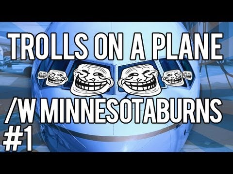 MW3 Trolling w/ MinnesotaBurns - Trolls on a Plane!