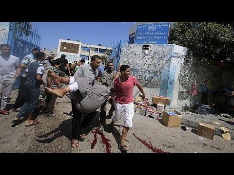 UN boss Ban Ki-moon condemns deadly Gaza school strike as 'criminal act'