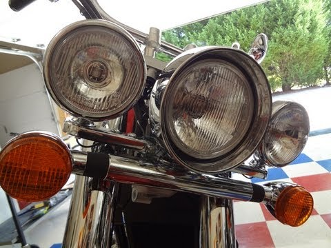 part 1 Honda Shadow Aero OEM light bar install