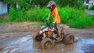 Квадрик VS грязь!!! Mud VS Quad ATV