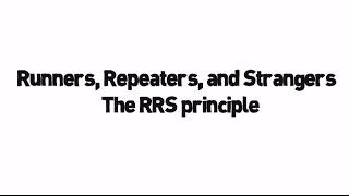 Lean Manufacturing Terms - Runners, Repeaters, Strangers