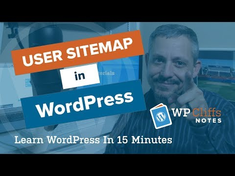 How to add an user Sitemap in WordPress