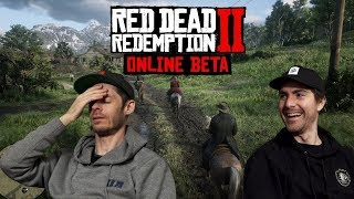 DRINKING BEERS & KICKING ASS!! - Red Dead Redemption 2 | 2dudes1game