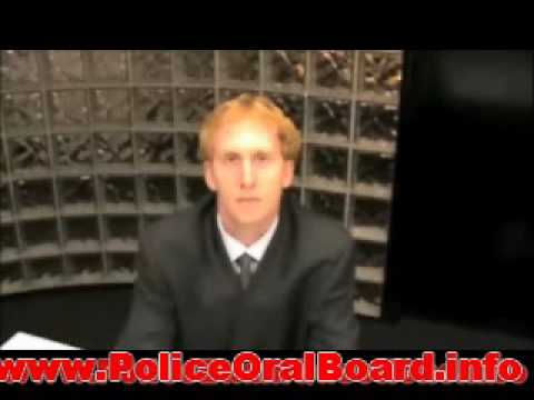 Oral Board Exam - Commonly asked police interview questions