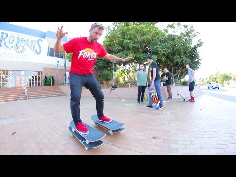 Most Dangerous Way To Ride A Skateboard!