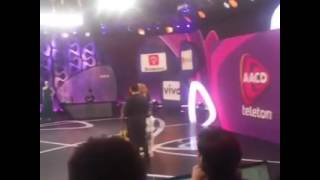 Backstage footage with presence of Lucero on Teleton Brasil 2016
