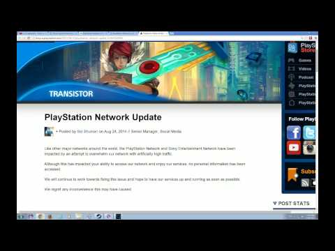 #PSN Playstation Network Down due to Hackers DDOS attacks 24 August 2014