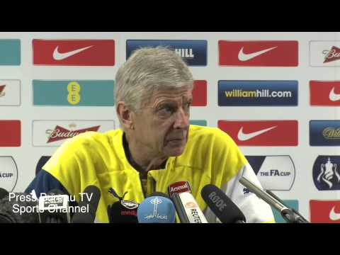 Arsene Wenger pre Arsenal vs Aston Villa FA CUP Final