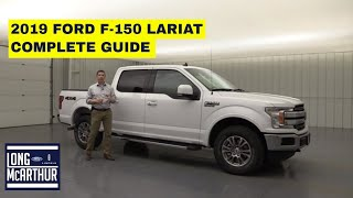 2019 FORD F-150 LARIAT COMPLETE - GUIDE STANDARD AND OPTIONAL EQUIPMENT