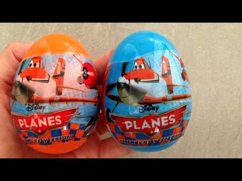 Planes Surprise Eggs Unwrapping - Aviones Huevos con Sorpresa de Disney Pixar - Toy Review