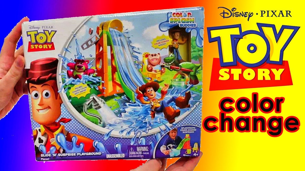 Toy Story Playground : Color changers cars with toy story playset slide n