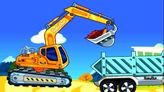 แม็คโคร รถตักดิน ตักดิน ทุบหิน วิดีโอเกมส์สำหรับเด็ก -Heavy Machines